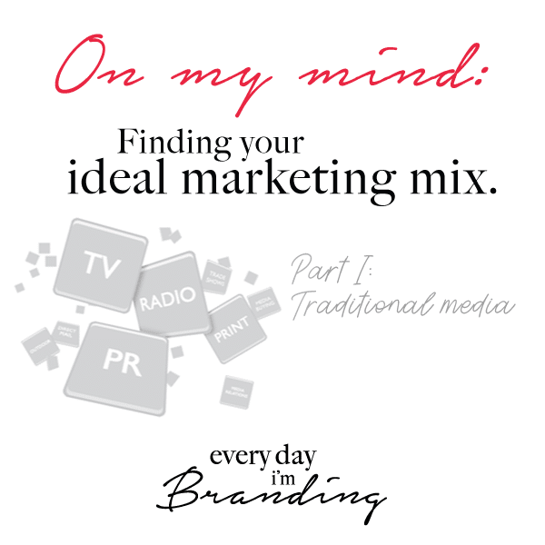 How to Find your Ideal Marketing Mix – Everyday I'm Branding