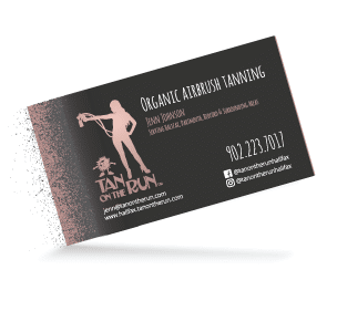 Tan On The Run Business Card