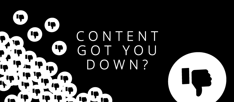 Social media content got you down?