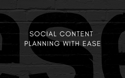 Social Content Planning with Ease